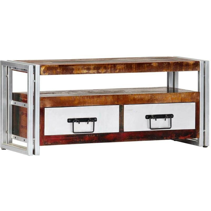 Topdeal TV-Schrank 90 x 30 x 40 cm Recyceltes Massivholz 13671
