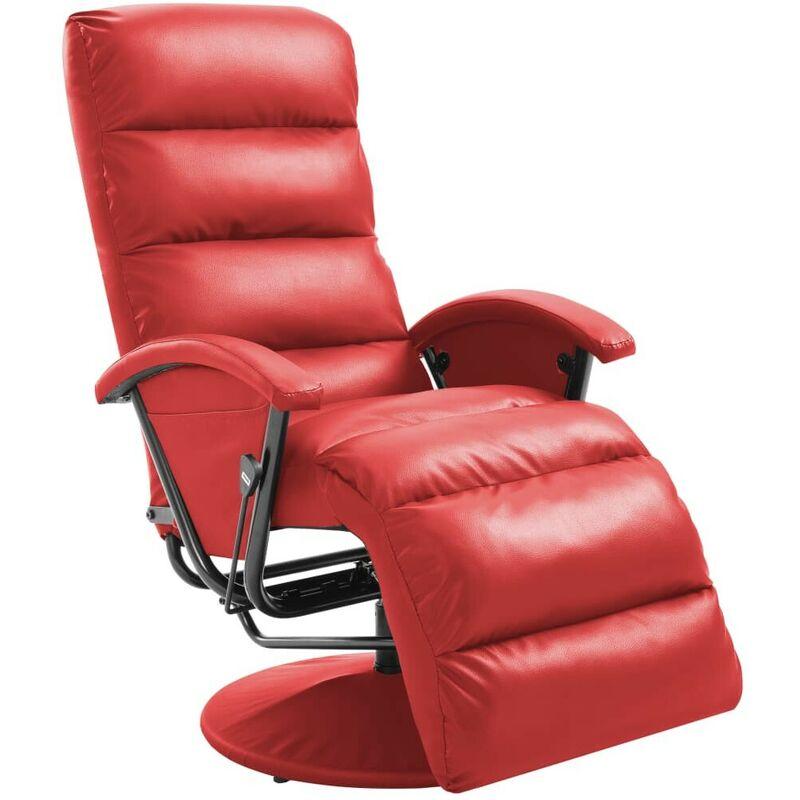 TV-Sessel Rot Kunstleder 14103 - Topdeal