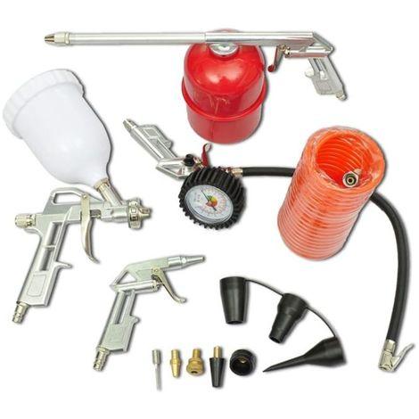 Topdeal VDTD03490_FR Kit 11 pièces d'outils pneumatiques pour compresseur