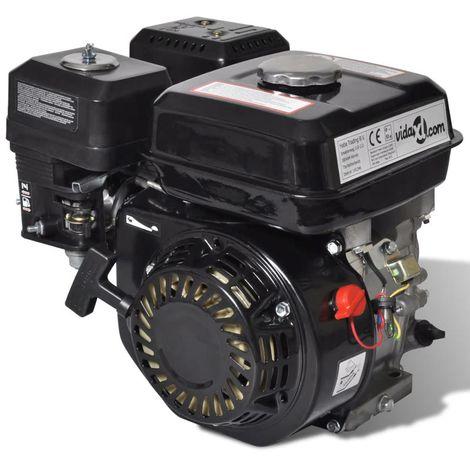 Topdeal VDTD03886_FR Moteur à essence 6,5 CH 4,8 kW Noir