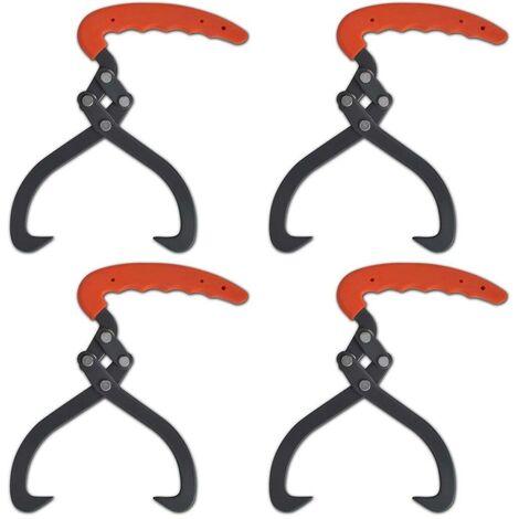 Topdeal VDTD03893_FR 4 pièces Crochet de levage Pince à bois