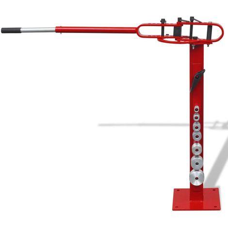 Topdeal VDTD03909_FR Cintreuse manuelle à fixer au sol pour tube en acier