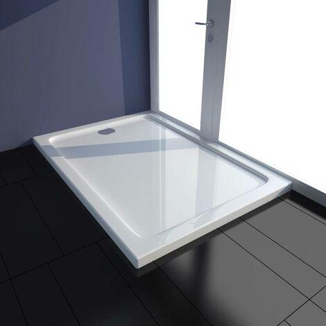 Topdeal VDTD03977_FR Bac de douche rectangulaire ABS Blanc 70 x 100 cm