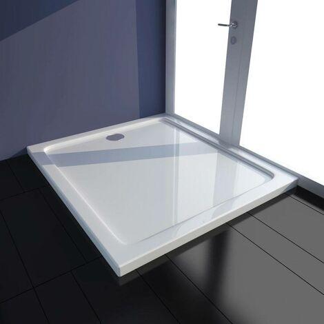 Topdeal VDTD03980_FR Receveur de douche rectangulaire ABS Blanc 80 x 90 cm