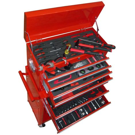 Topdeal VDTD04483_FR Chariot à outils avec outils 7 couches