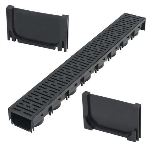 Topdeal VDTD04912_FR Canaux de drainage Plastique 1 m