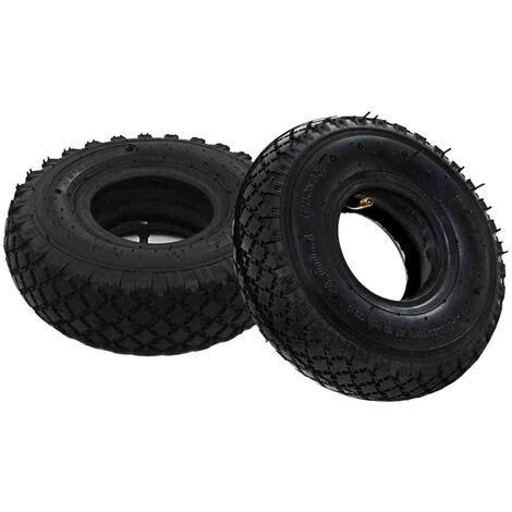Topdeal VDTD04994_FR 2 pneus 2 chambres à air 3.00-4 260x85 pour roue de diable