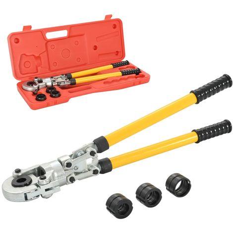Topdeal VDTD05677_FR Pince à sertir hydraulique Forme de V 16-20-26-32 mm