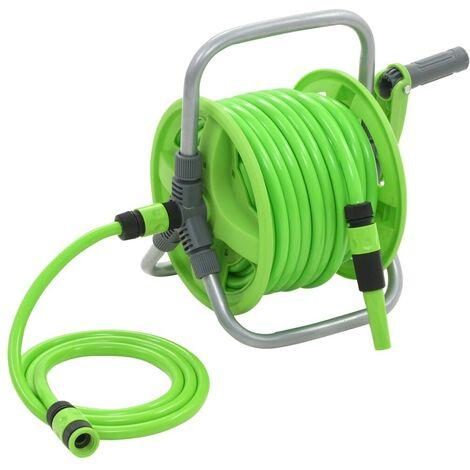 Topdeal VDTD05785_FR Enrouleur de tuyau d'arrosage 20 + 2 m
