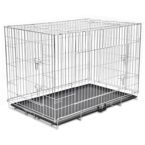Topdeal VDTD06936_FR Cage métallique et pliable pour chiens XXL