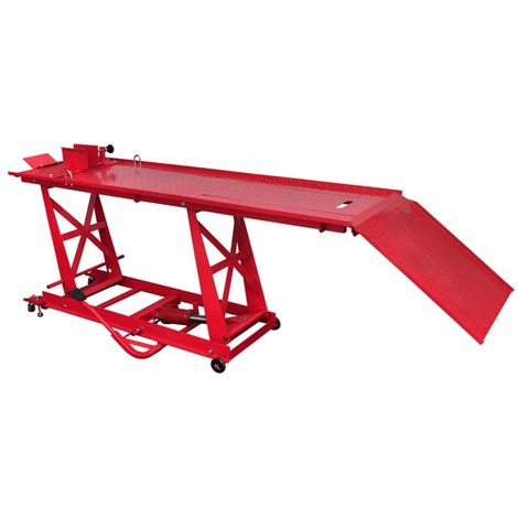 Topdeal VDTD07616_FR Pont élévateur plateforme hydraulique pour moto 450 kg
