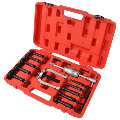 Topdeal VDTD07809_FR Kit d'extracteurs de roulements 16 pièces