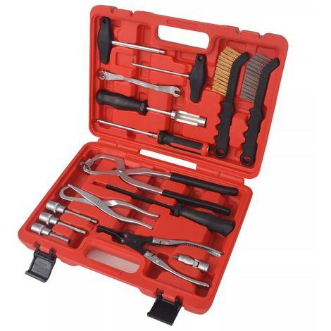 Topdeal VDTD07861_FR Kit d'outils d'entretien et d'assemblage de frein 15 pcs