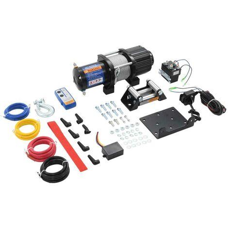 Topdeal VDTD07879_FR Treuil électrique 12 V 4500 lbs 2040 kg avec télécommande