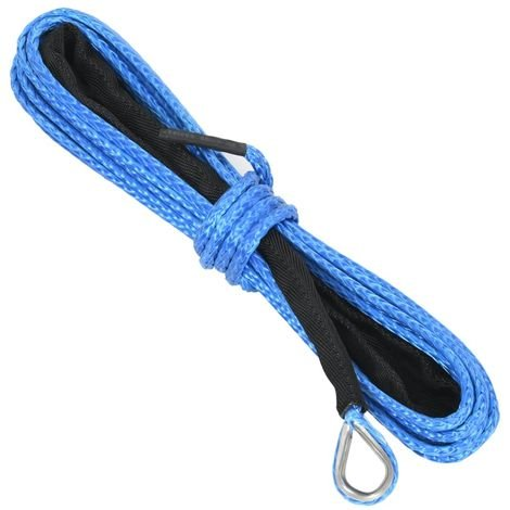 Topdeal VDTD07889_FR Corde de treuil Bleu 5 mm x 9 m