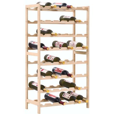 Topdeal VDTD12372_FR Casier à bouteilles Bois de cèdre 57,5 x 28 x 102 cm