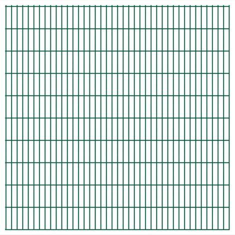 Topdeal VDTD16936_FR Panneaux de clôture 2 D de jardin 2008 x 2030 mm 18 m Vert