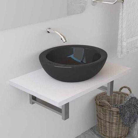 Topdeal VDTD24469_FR Meuble de salle de bain Blanc 60x40x16,3 cm
