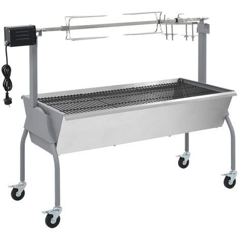 Topdeal VDTD26128_FR Rôtissoire pour barbecue électrique Acier inoxydable