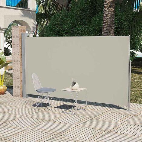 Topdeal VDTD26257_FR Paravent Store vertical Patio Terrasse 160 x 300 cm Couleur Crème