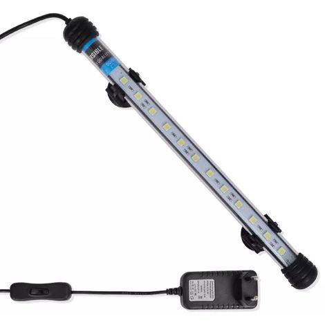 Topdeal VDTD26403_FR Lampe LED d'aquarium 28 cm Blanc