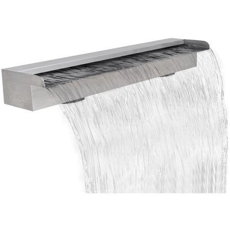 Topdeal VDTD26634_FR Lame d'eau rectangulaire pour piscine en acier inoxydable 90 cm