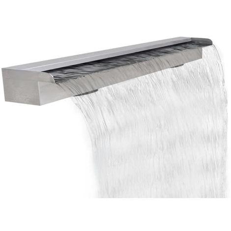 Topdeal VDTD26635_FR Lame d'eau rectangulaire pour piscine en acier inoxydable 120 cm
