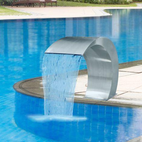 Topdeal VDTD26647_FR Fontaine cascade de piscine Acier inoxydable 45 x 30 x 60 cm