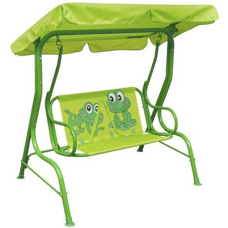 Topdeal VDTD26721_FR Siège balançoire pour enfants vert