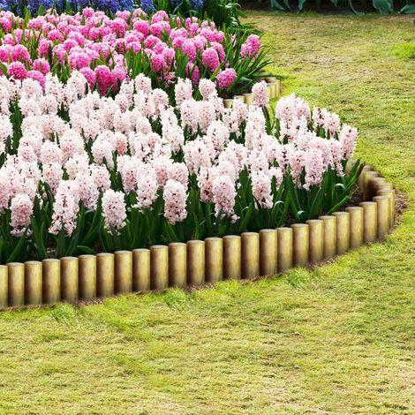 Topdeal VDTD27641_FR Poteaux de clôture pointus 25 pcs Pin imprégné FSC 5x30 cm