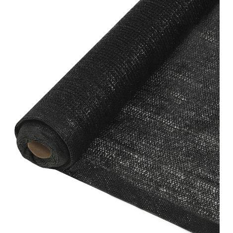 Topdeal VDTD29382_FR Filet brise-vue PEHD 1 x 25 m Noir