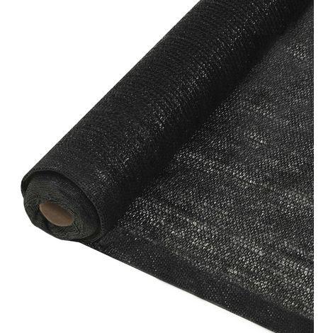 Topdeal VDTD29385_FR Filet brise-vue PEHD 1,5 x 25 m Noir