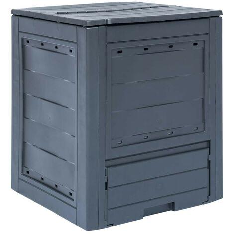 Topdeal VDTD29807_FR Bac à compost de jardin Gris 60x60x73 cm 260 L