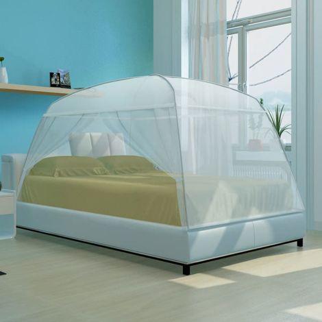 Topdeal VDTD30346_FR Moustiquaire Mongolia 2 portes 200 x 120 x 130 cm Blanc