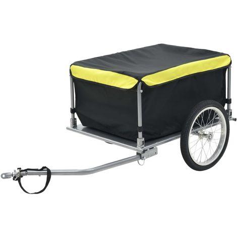 Topdeal VDTD32660_FR Remorque de bicyclette Noir et jaune 65 kg