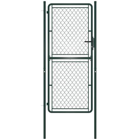 Topdeal VDTD34862_FR Portillon Acier 100 x 200 cm Vert