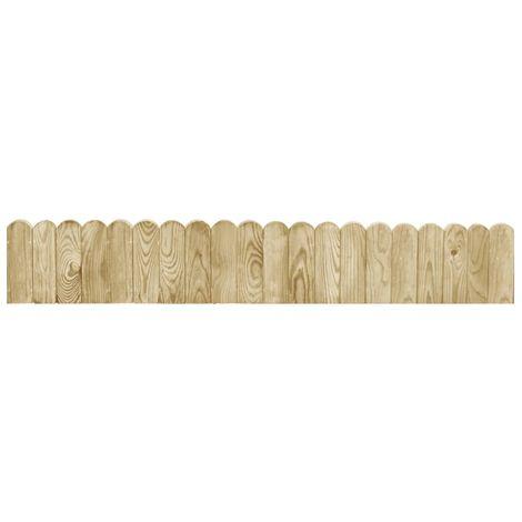 Topdeal VDTD46885_FR Rouleau de bordure Vert 120 cm Bois de pin imprégné