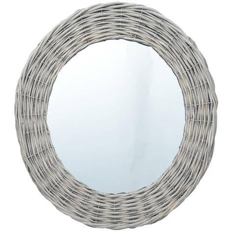 Topdeal VDYU37432_FR Miroir 120x60 cm Osier Miroir de Douche Miroir Maquillage Pour la Maison, Salle de Bain, H?tel