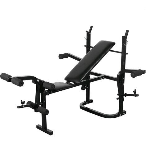 Topdeal Weight Bench Black VDTD31921