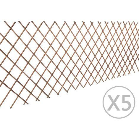 Topdeal Willow Trellis Fence 5 pcs 180x90 cm VDTD03551