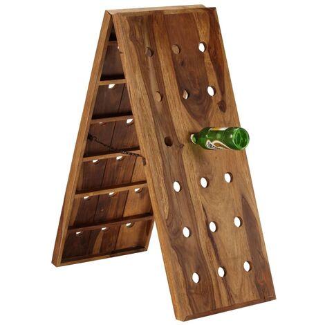 Topdeal Wine Rack for 36 Bottles Solid Sheesham Wood VDTD12167