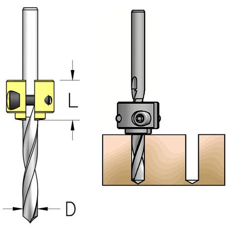 Tope de profundidad ajustable para brocas entre Ø 6 y Ø 10 mm WPW