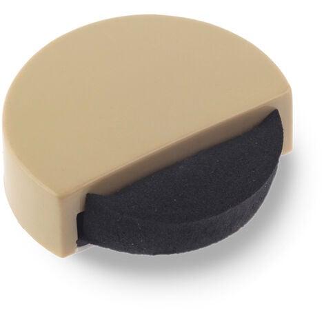 Tope de puerta adhesivo marca REI, de estilo contemporáneo, fabricado en beige y con acabado plástico.