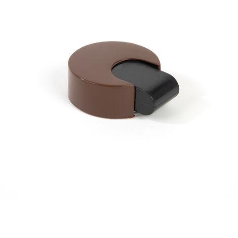 Tope de puerta adhesivo marca REI, de estilo decorativo, fabricado en marrón y con acabado plástico.