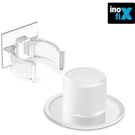 Tope y retenedor pinza adhesivos transparente (blister) inofix