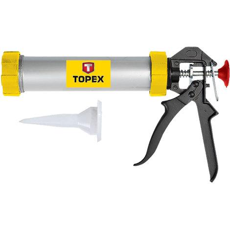 TOPEX 21B330 Pistola para tubos de silicona 300ml