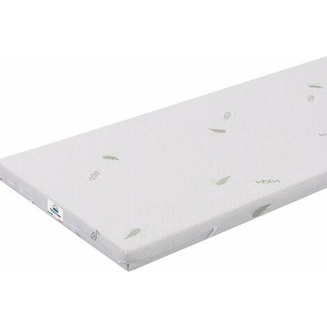 Topper Matratzen TOP3 90x190 aus Memory-Foam Beschichtung Aloe Vera Dicke