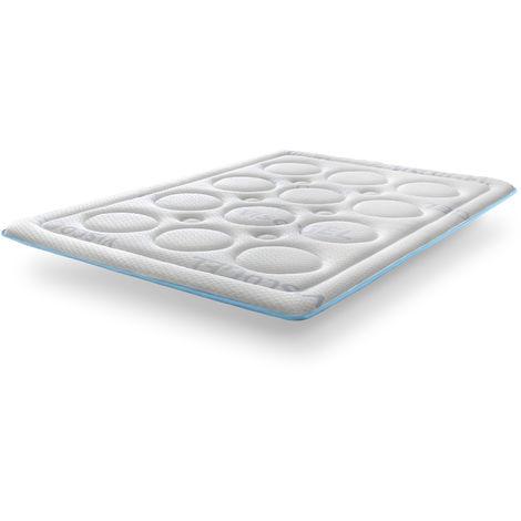 Topper Viscogel Bubble Confort de SonnoMattress, Altura 4 cm
