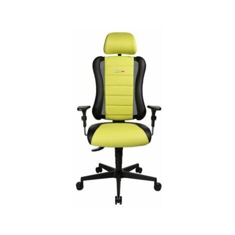 Schreibtischstuhl SITNESS RS | Höhenverstellbar | Mit Armlehnen | Schwarz-Grün |