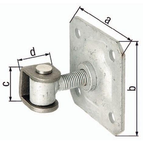 Torband 100x100x44mm U-Bügel Stahl roh verstellb. um 20 mm m. Platte GAH